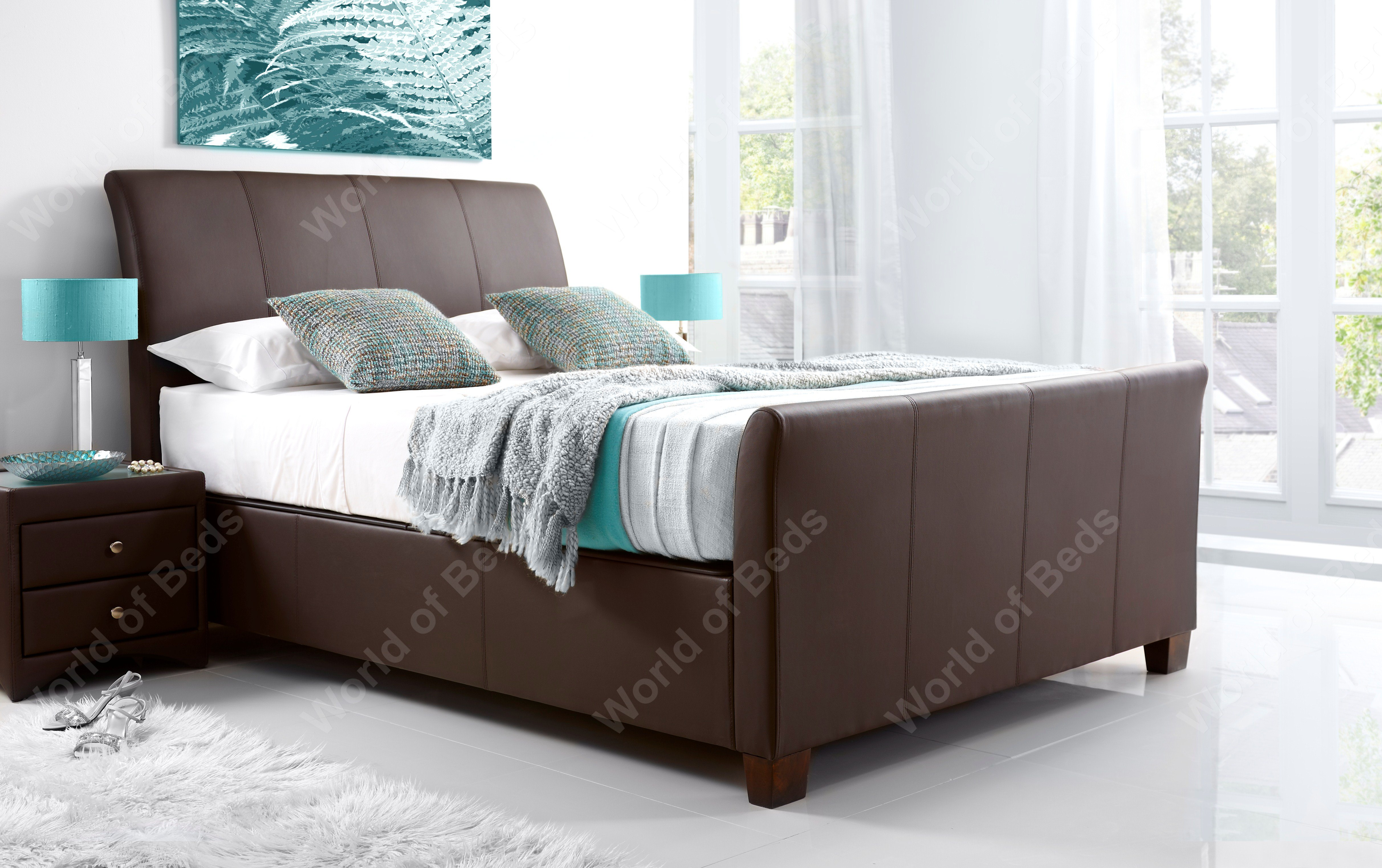 Allendale Ottoman Bed, brown