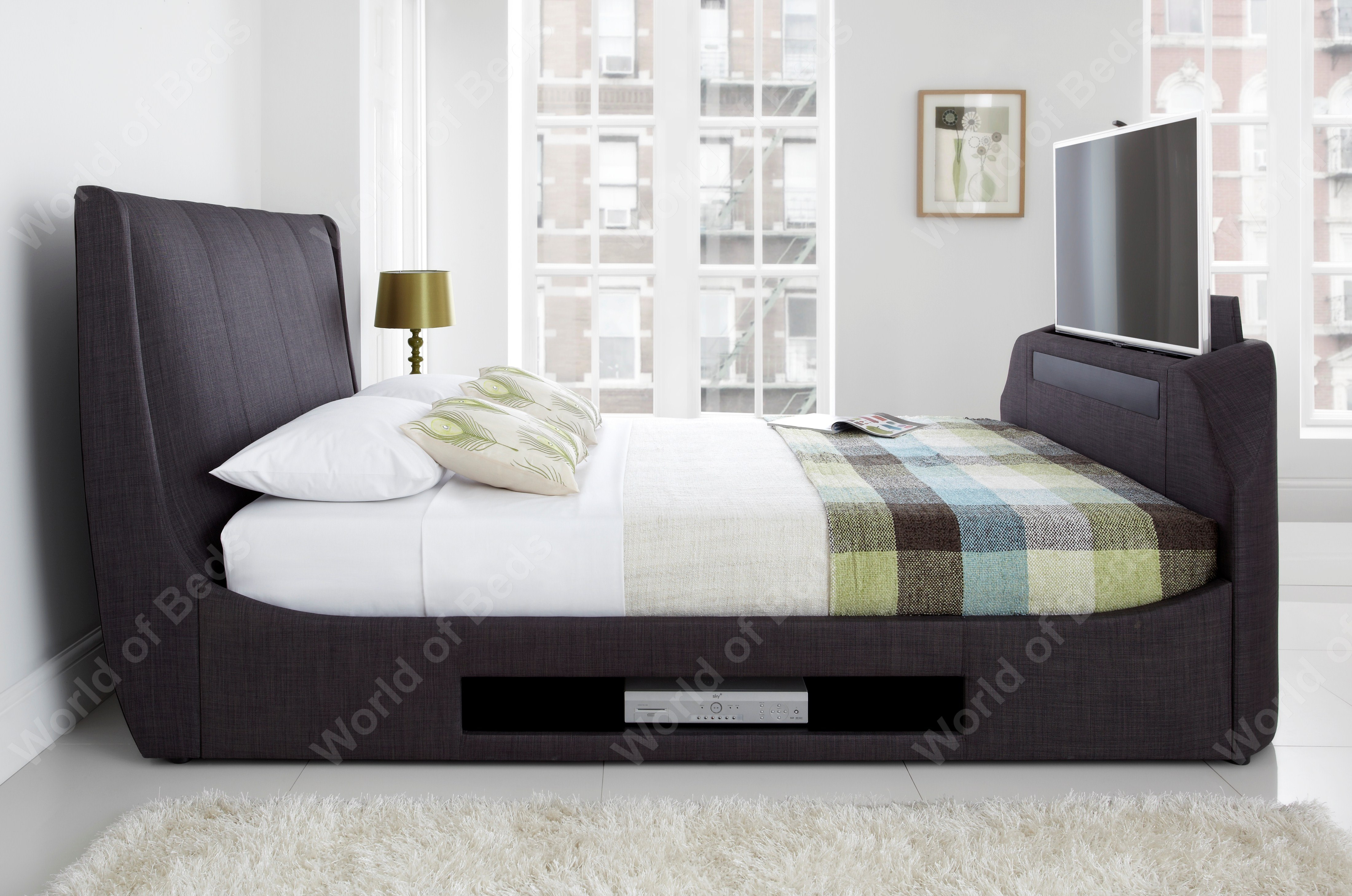 Kaydian Somner TV Bed & Sound Bar available from the world of beds, doncaster
