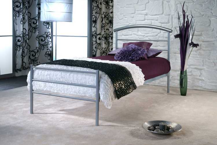 Dreamland Brennington Silver Bed Frame available from the world of beds, doncaster