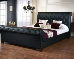 Dreamland Black Faux Leather Elizabeth Bed Frame available from the world of beds, doncaster