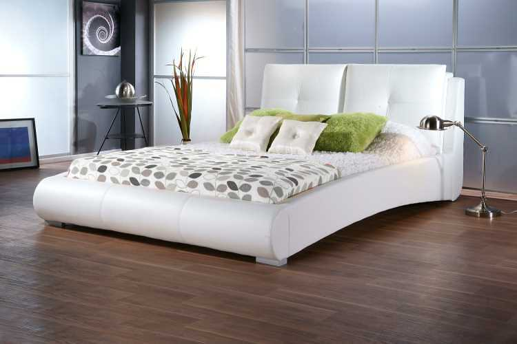 Dreamland White Faux Leather Sophia Bed Frame - The World of Beds