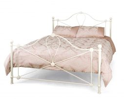 Serene Ivory Gloss Lyon Bed available from the world of beds, doncaster
