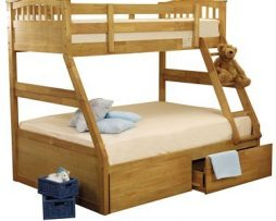 Sweet Dreams Oak Apollo Triple Bunk Bed available from the world of beds, doncaster
