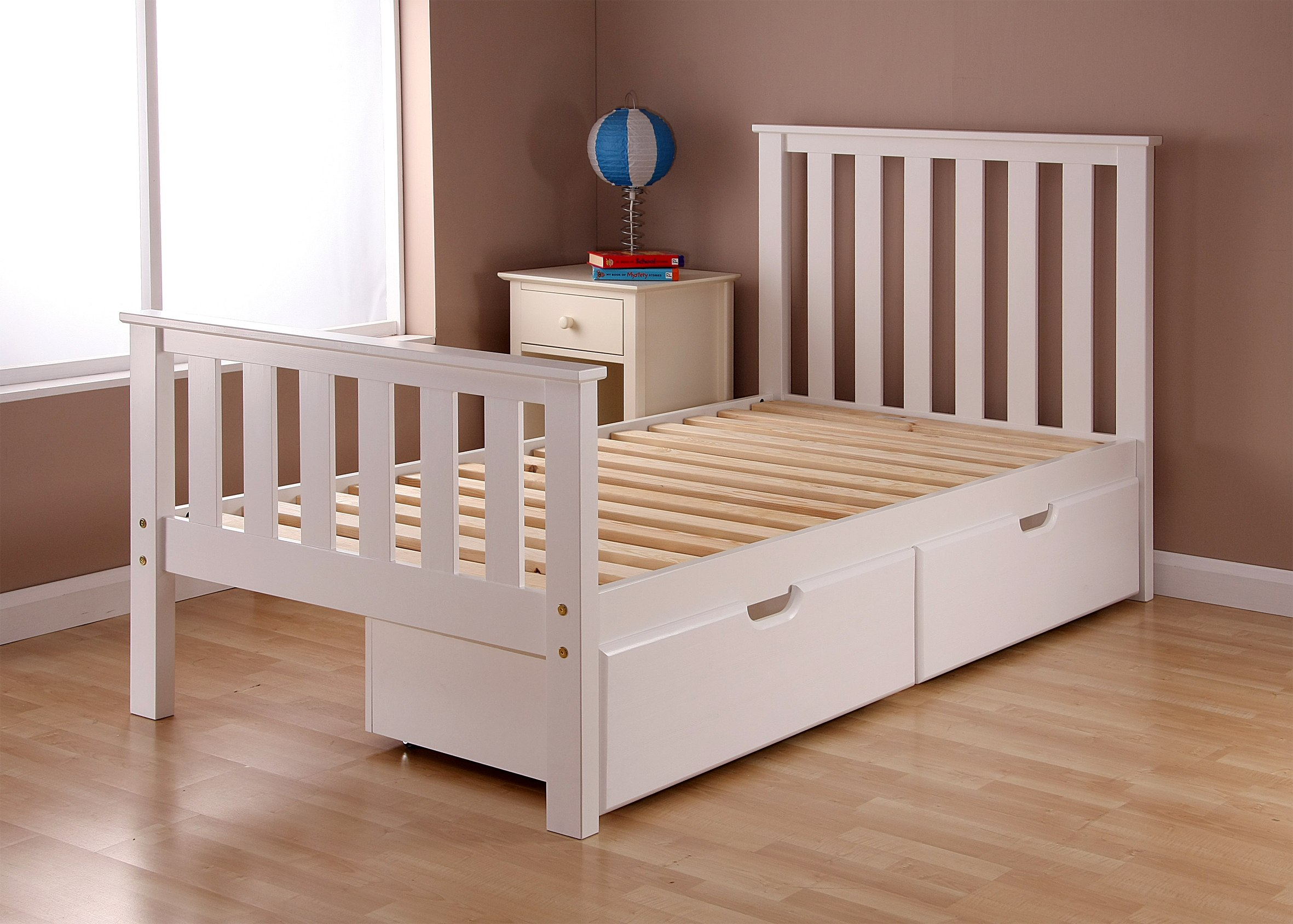 Bunk Bed Twin Over Full White  Kids Low Bunk Bed Twin