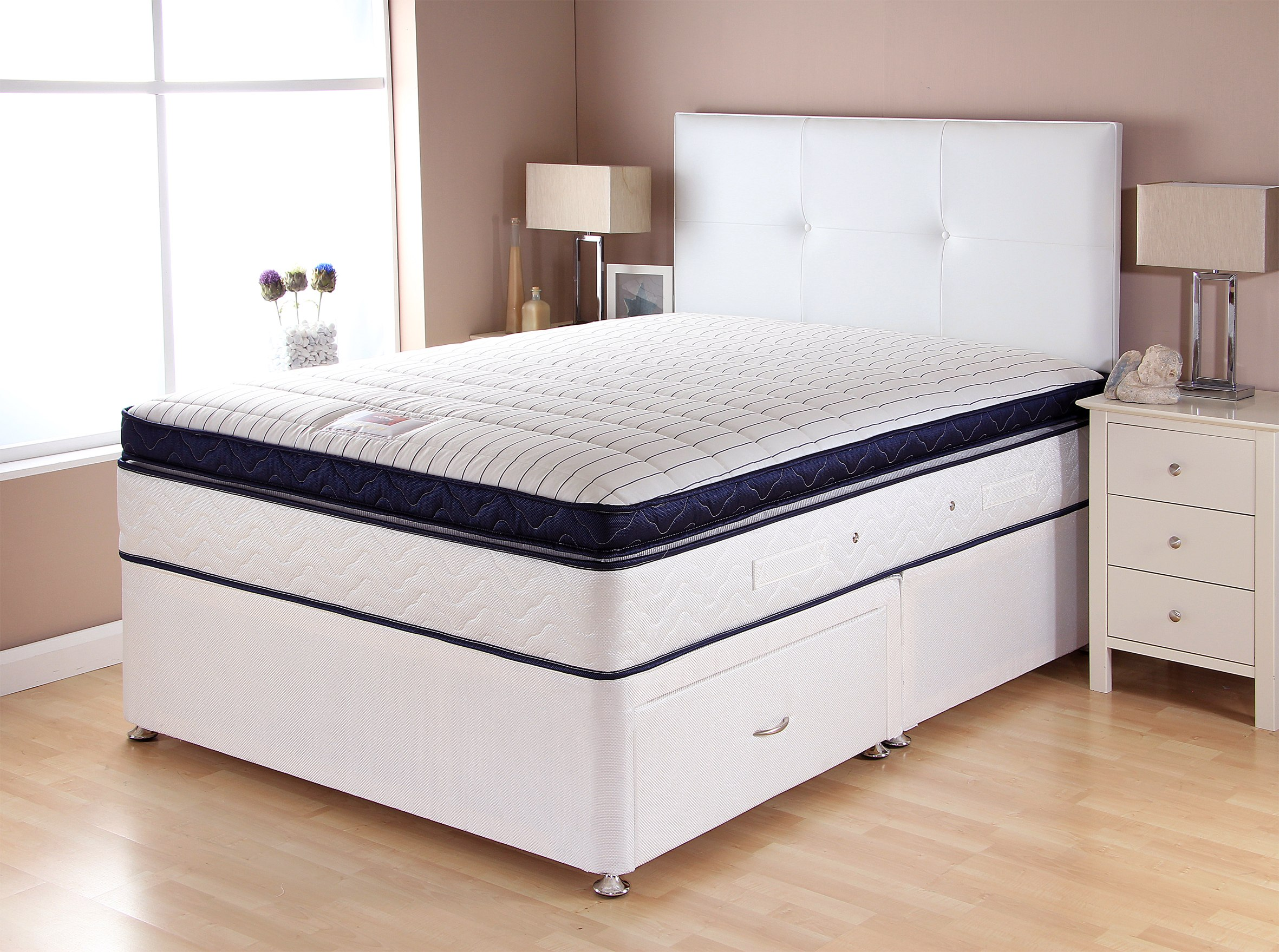 Catalina pocket box top divan bed the world of beds for Best divan beds