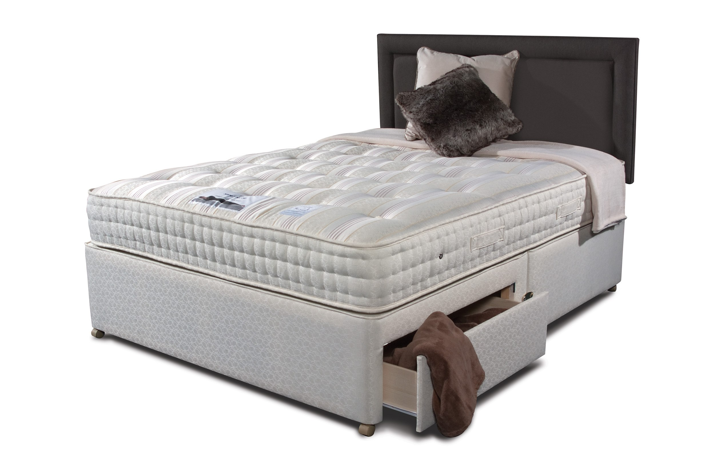 Sleepeezee new backcare luxury 1400 divan bed the world for Luxury divan beds