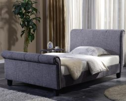 Brynford Sleigh Bed available from the world of beds, doncaster, south yorkshire