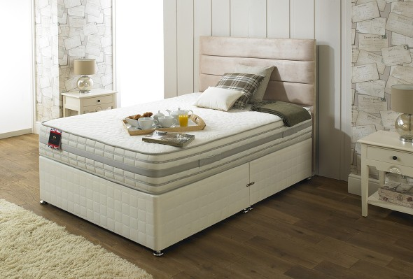 The Eliza 2000 mattress and divan bed available from the world of beds, doncaster